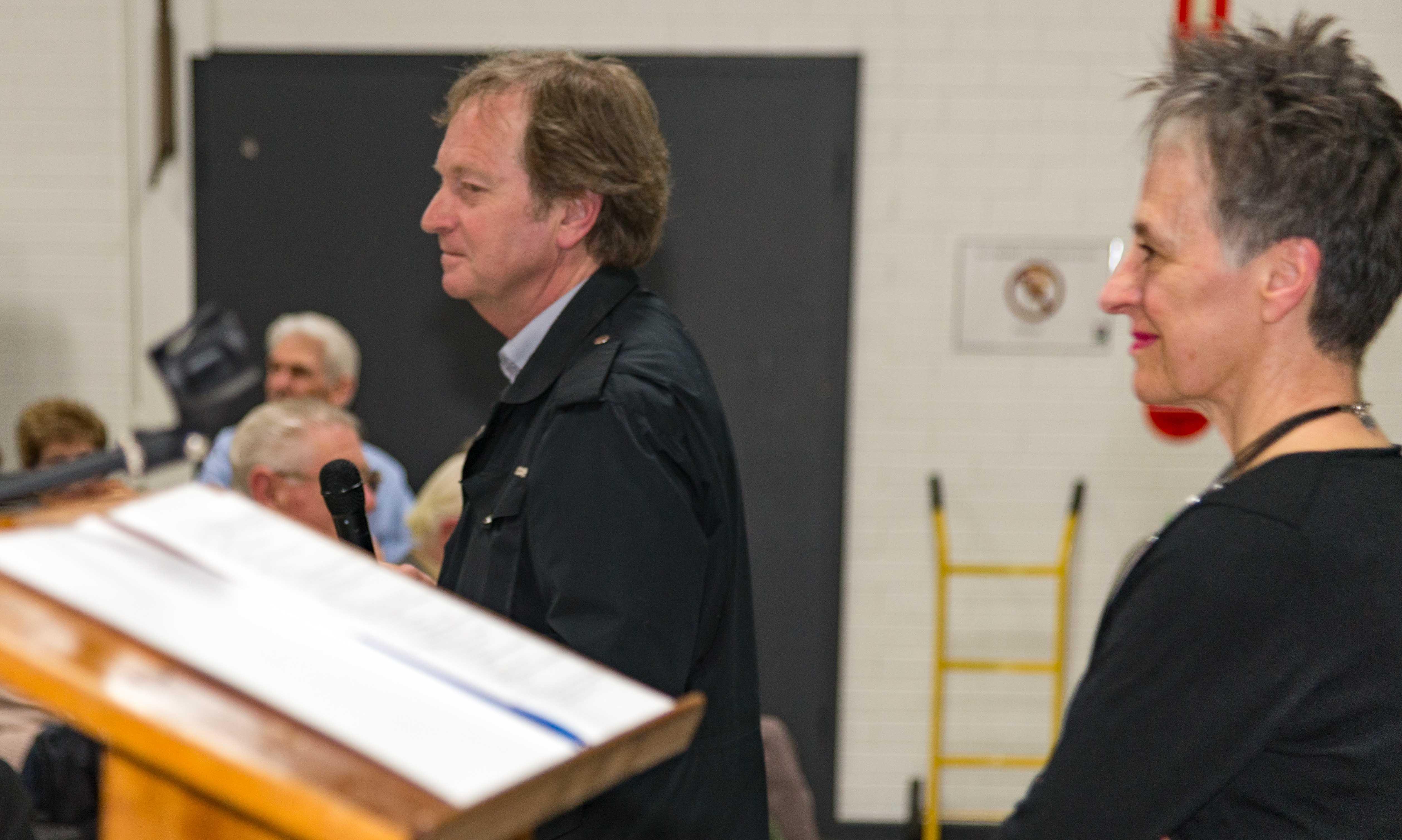 Geoffrey Bishop introduces Madeleine Regan