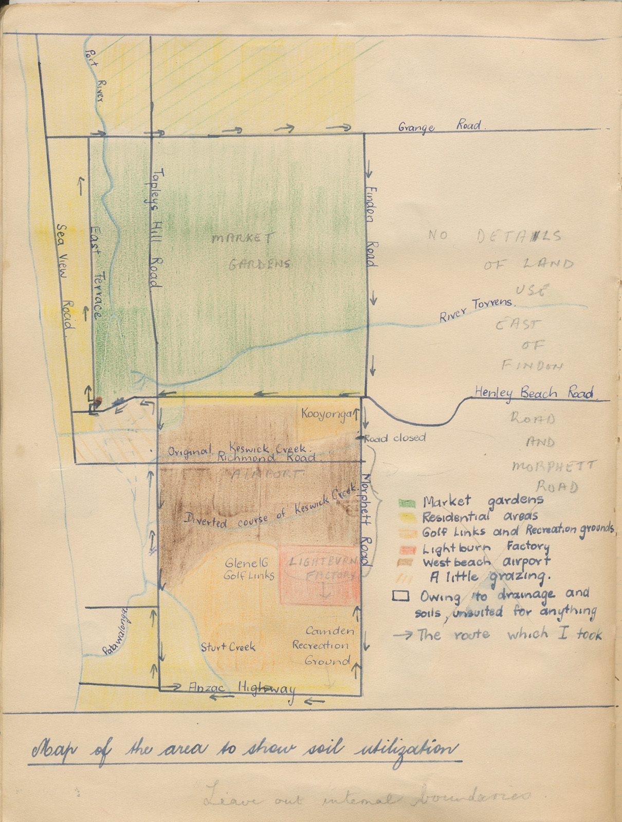 Maps Veneto market gardeners 1927