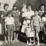 Simeoni sisters and families, Frogmore Road c 1964