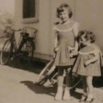 Terry & Irene, outside family home, c 1952, 1953